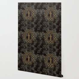 Decorative celtic knot, vintage design Wallpaper