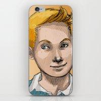 tintin iPhone & iPod Skins featuring Tintin by Zalazny