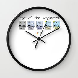 Days of the Workweek Wall Clock
