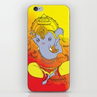 ganesh iPhone & iPod Skins featuring Ganesh  by xDiNKix