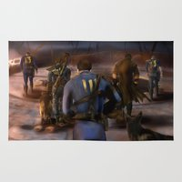 fallout Area & Throw Rugs featuring Fallout Tribute by Hetty's Art