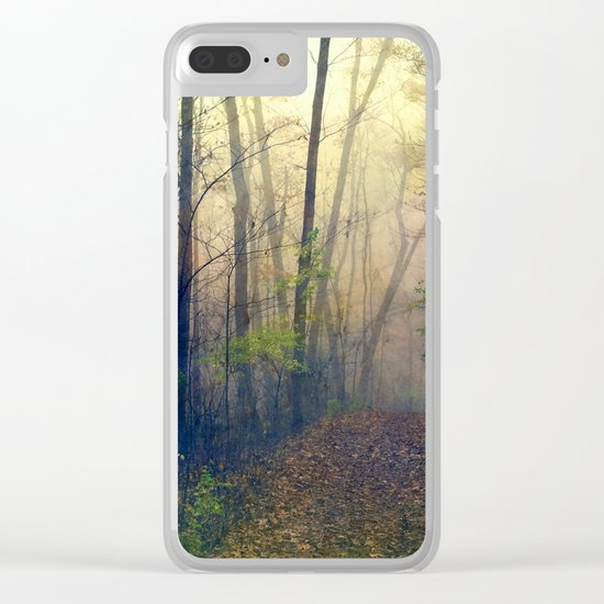 Wandering in a Foggy Woodland Clear iPhone Case