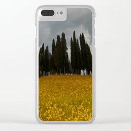 Golden fields of Tuscany Clear iPhone Case