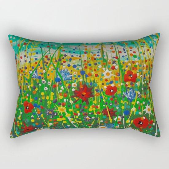 Flowers of happiness Rectangular Pillow