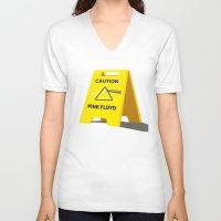floyd V-neck T-shirts featuring Pink Floyd by gunberk