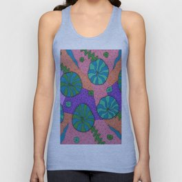 Retro Sea Garden Unisex Tank Top