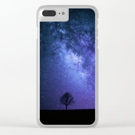 Night tree Clear iPhone Case
