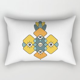 Five Eyes and Feathers Rectangular Pillow