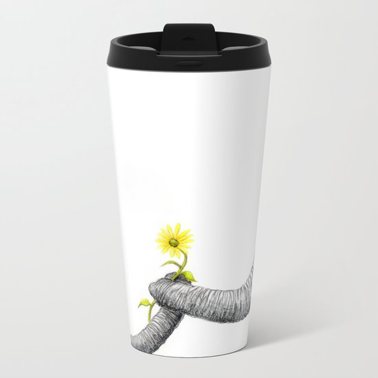 """""""Up Close You Are More Wrinkly Than I Remembered"""" Metal Travel Mug"""