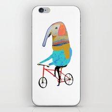 Elephant on bike. biking art, bike decor, bikes. iPhone & iPod Skin