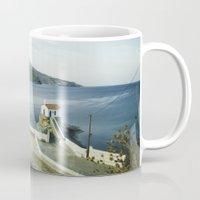 greek Mugs featuring Greek landscape by MarioGuti