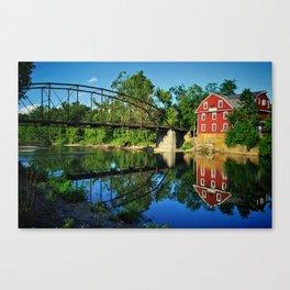War Eagle Mill and Bridge Canvas Print