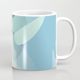 Leaves on blue Coffee Mug