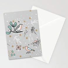 Scandinavian birds Stationery Cards