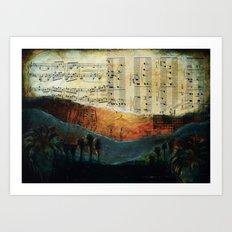 Dawning Hills Art Print