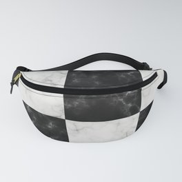 Bold Black & White Marble Pattern Fanny Pack