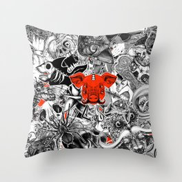 Stickers Throw Pillow