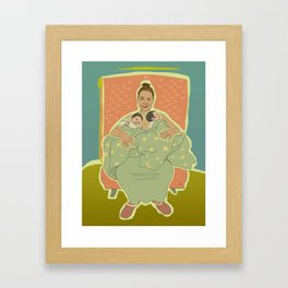 Mother with Twins Framed Art Print