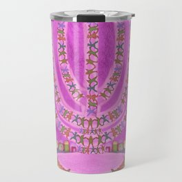 Candelar-Chanukkah-light-judaica art-hand painted-bright colors Travel Mug