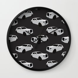 Rolly White Print Wall Clock