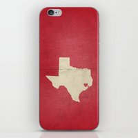 houston iPhone & iPod Skins featuring Houston, Texas by Fercute