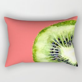Kiwi on Coral Rectangular Pillow