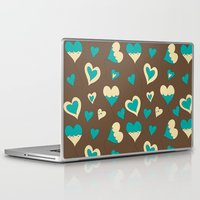 baloon Laptop & iPad Skins featuring Baloon Heart by GrapeDiva
