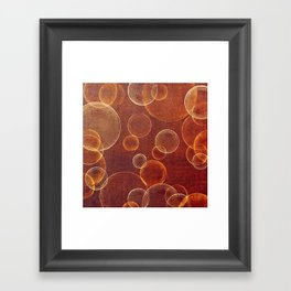 orange bubbles Framed Art Print