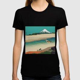 Tama River and Mount Fuji T-shirt