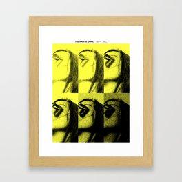 The rain is gone Framed Art Print
