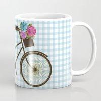 bike Mugs featuring Bike by Juliana Zimmermann