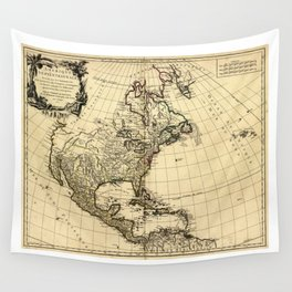 Amérique Septentrionale, Map of North America (1758) Wall Tapestry