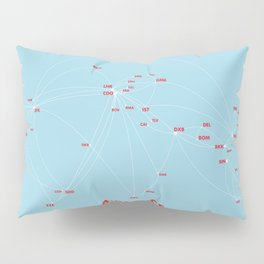 Air route and airport hub Airspace map Pillow Sham