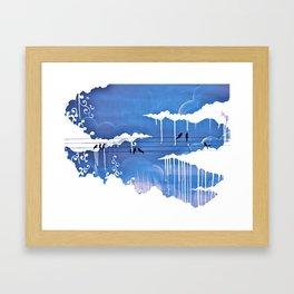 pouring Framed Art Print