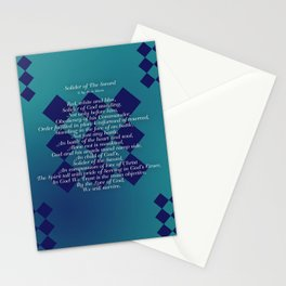 Solider of The Sword Stationery Cards