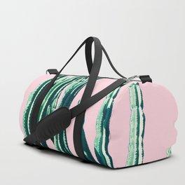 Green Cactus on Pink Duffle Bag