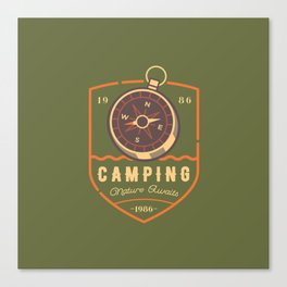 Compass Camping Canvas Print