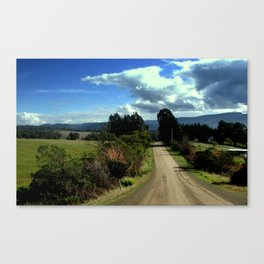 Cynet Valley Road Canvas Print