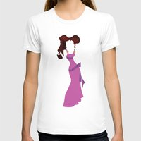 hercules T-shirts featuring Megara from Hercules Disney Princess by Alice Wieckowska