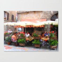European Cafe Montepulciano Canvas Print