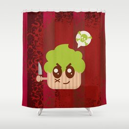 Cupcakes are EVIL Shower Curtain