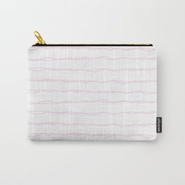 Simply Wavy Lines in Desert Rose Pink Carry-All Pouch
