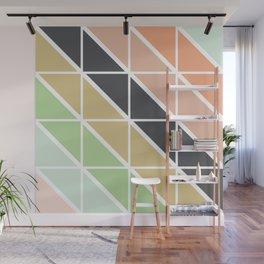Retro Geometric Triangle Pattern Wall Mural