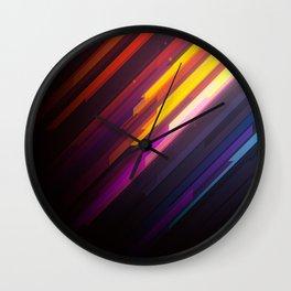 Procedural Diagonals B 005 Wall Clock