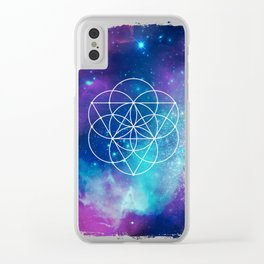 Egg Of Life Metaphysical Galaxy Clear iPhone Case