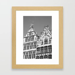 Antwerp in Black & White Framed Art Print