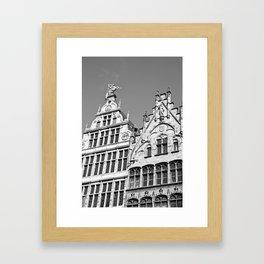Antwerp in Black & White Framed Art Print
