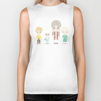golden girls Biker Tanks featuring Girls in their Golden Years by Ricky Kwong
