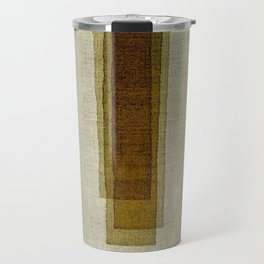 """Burlap Texture Greenery Columns"" Travel Mug"