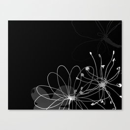Floral Strands Canvas Print
